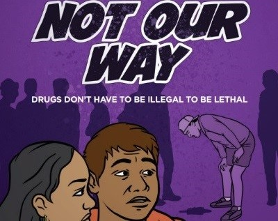 The Not Our Way Storybook follows a group of teenagers through their experiences with misusing prescription drugs.